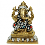 Estatua Ganesh color oro/plata